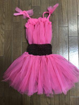 【100均DIY】1歳の誕生日記念撮影衣装にチュチュドレスを水切りネットで手作りしたよ